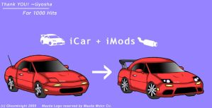 Kiriban 1000: the iCar by gloomknight