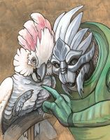 Turian with Cockatoo by caramitten