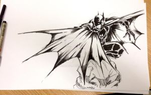 Batman quick sketch. by harosais1