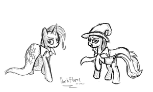 Trixie Sketches - 1 by DarkFlame75
