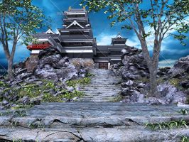 Asian Castle by Trisste-stocks