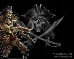 Pirate skeleton wallpaper by Ironshod