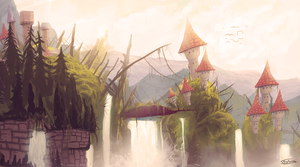 Fantasy Village by Frostwindz