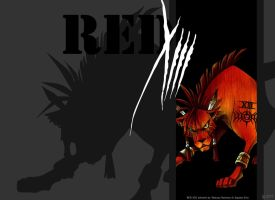 Nanaki slash Red XIII by RandomDork