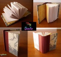 Tiny Maroon Sketch Book by MyFebronia
