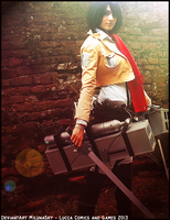 Mikasa Ackerman Cosplay - Lucca Comics 2013 by Konene