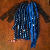 Synthetic Dreads + Cyber Lox by ElectricDinoSaur