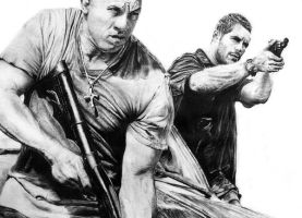 Dominic Toretto and Brian O'Connor by Sasoriakasuna1