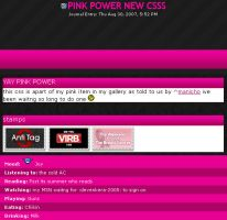 FREE pink power journal CSS by Kip0130