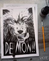 Demon Wolf page sample by Kagoe