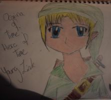 BEST OCARINA OF TIME YOUNG LINK I DREW (day 25ish) by Fallinginreverse1298