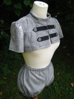 Gray Steampunk Shrug Combo by dreadnoughtdesigns