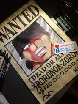One Piece - Wanted of Roronoa Zoro by LoLoOw