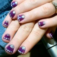 Simple Purple With Dots by FatimattiDesigns