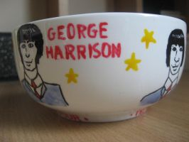 The Beatles bowl- George Harrison and Ringo Starr by BonaScottina