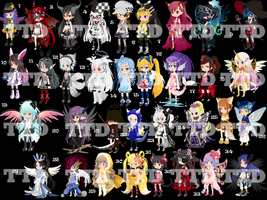 34 Magical TTA Adoptables Girls + 1 Boy CLOSED+ by AdoptableSoulxHeart