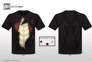 The Dragon Within T-Shirt Design (Red) by NJSFX