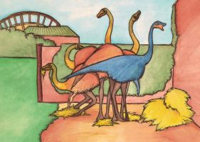 Gallimimus enclosure by halfpennyro04