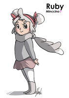 White Nuzlocke: Ruby Gijinka by ky-nim