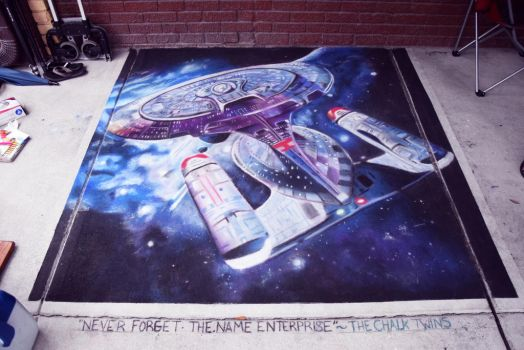 The Enterprise by ChalkTwins