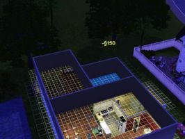 Sims 3 - I edit and built a new second house floor by Magic-Kristina-KW