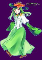 Lilligant Gijinka by Shiric