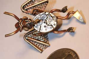 Steampunk dragon pin by Paul-Nasca