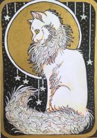 ACEO: Le Chat Blanc by DanielleMWilliams