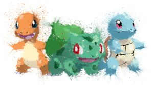 Paint Drip Gen1 Starters by ImpersonatingPanda