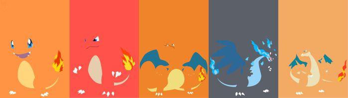 Charmander Evolution line by S--Art