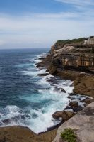 Coastline between Clovelly and Bronte by tessavance