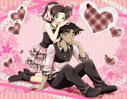 Heiji and Kazuha by chikorita85