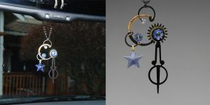 Lt Sapphire Steampunk Sun Catcher V5- SOLD by YouniquelyChic