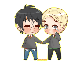Chibi Drarry - baby by Cremebunny