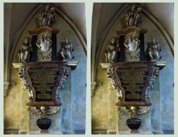 Inside the Cathedral Of Naumburg 3D ::: Cross Eye by zour