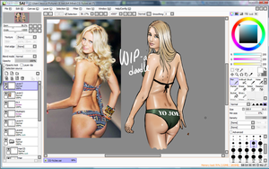 WIP a doodle: GI Joe Pinup: Cover Girl by Callisto-Hime