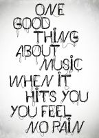 One Good Thing About Music by nattymhar