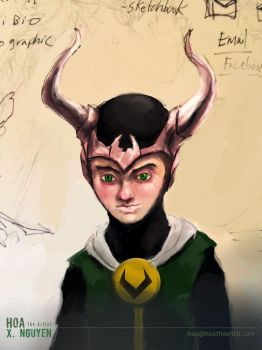 Young-loki by Hoabert