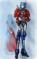 Transformers prime  humanized Optimus and Orion by flytonowhere
