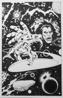 Silver Surfer and Mephisto by MMaikowsky
