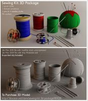 Sewing Kit- 3D for sell by Alanise