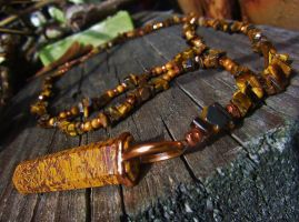 Complete: Tiger's Eye Necklace by SadiesAccessories