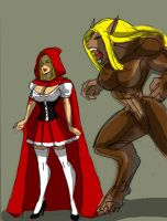 Red Riding Hood Wolf by johnnyharadrim