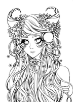Bloom Lineart by ArtistiqueMuoi