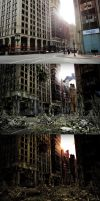 Ruined City Matte Painting Work Flow by squiffythewombat