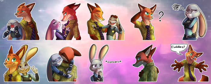 COM - WildeHopps Sticker Set by ScissorsRunner
