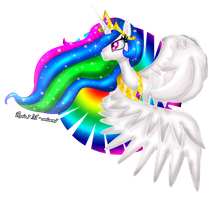 Princess Celestia by rocioam7