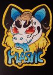 .: FURSONA BADGE COMMISSION :. Plastic by MariusOfTheSea