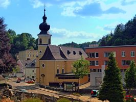 The village church of Helfenberg II by patrickjobst