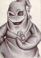 Oogie Boogie Sketch Card by UnderCoverCottonswab